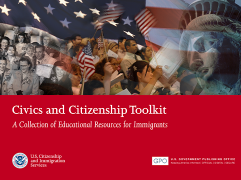 Picture of front of the Civics and Citizenship Pamphlet