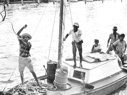 Image of Cuban refugees arriving in the United States, 1962. *State Library & Archives of Florida.