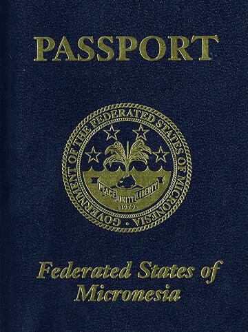 Cover of Micronesia passport