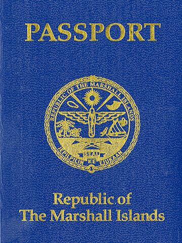 Image of a Republic of Marshall Islands Passport