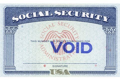 Picture of a Sample Social Security Card