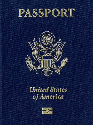Image of the cover of a US passport