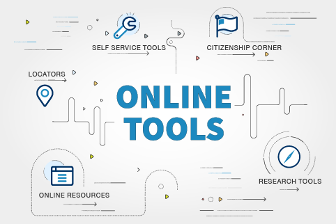 Graphic with text Online Tools